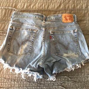 Levi's retro denim shorts